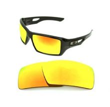 NEW POLARIZED CUSTOM FIRE RED LENS FOR OAKLEY EYE PATCH 2 SUNGLASSES